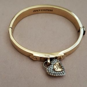 Juicy Couture pave heart Hinge Bracelet